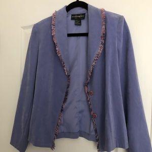 Requirements lavender jacket with pastel fringe
